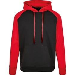 vaatteet Miehet Svetari Build Your Brand BB005 Black/Red
