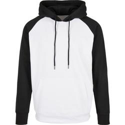 vaatteet Miehet Svetari Build Your Brand BB005 White/Black