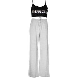 vaatteet Naiset pyjamat / yöpaidat Forever Dreaming  Grey/Black