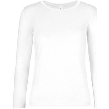 vaatteet Naiset T-paidat pitkillä hihoilla B And C TW08T White