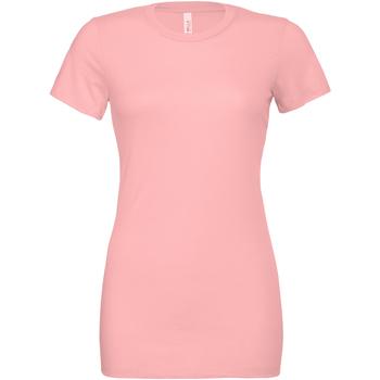 vaatteet Naiset T-paidat & Poolot Bella + Canvas BE6400 Pink