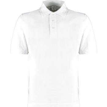vaatteet Miehet T-paidat & Poolot Kustom Kit KK460 White
