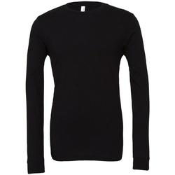 vaatteet T-paidat pitkillä hihoilla Bella + Canvas CA3501 Black