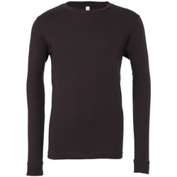 vaatteet T-paidat pitkillä hihoilla Bella + Canvas CA3501 Dark Grey