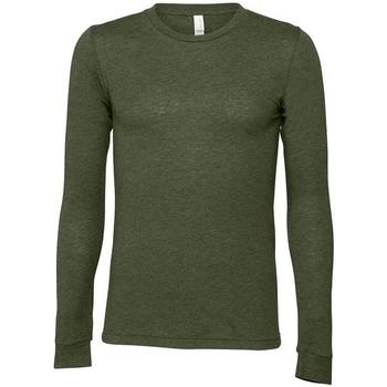 vaatteet T-paidat pitkillä hihoilla Bella + Canvas CA3501 Military Green
