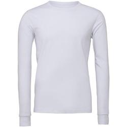 vaatteet T-paidat pitkillä hihoilla Bella + Canvas CA3501 White
