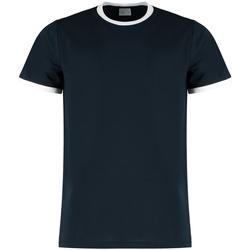 vaatteet Miehet T-paidat & Poolot Kustom Kit KK508 Navy/White
