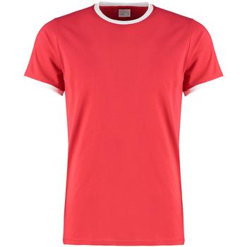 vaatteet Miehet T-paidat & Poolot Kustom Kit KK508 Red/White
