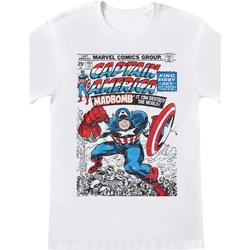 vaatteet Lyhythihainen t-paita Captain America  White