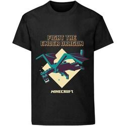 vaatteet Lapset Lyhythihainen t-paita Minecraft  Black