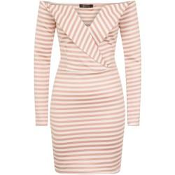 vaatteet Naiset Lyhyt mekko Girls On Film  Pink/White