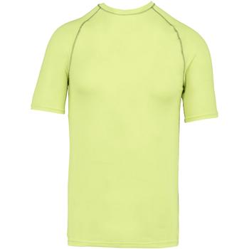vaatteet Lapset Lyhythihainen t-paita Proact PA4008 Fluorescent Yellow