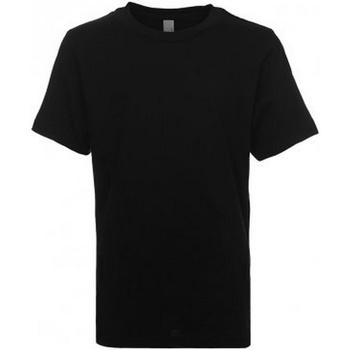 vaatteet Lapset Lyhythihainen t-paita Next Level NX3310 Black