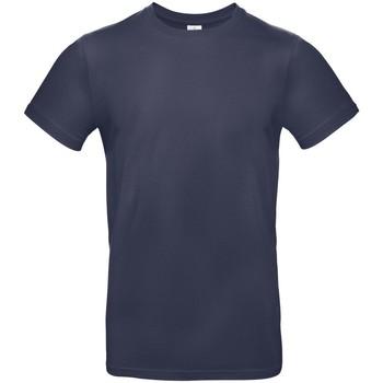 vaatteet Miehet Lyhythihainen t-paita B And C BA220 Navy Blue