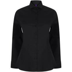vaatteet Naiset Paitapusero / Kauluspaita Henbury HB533 Black