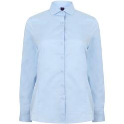 vaatteet Naiset Paitapusero / Kauluspaita Henbury HB533 Light Blue