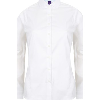 vaatteet Naiset Paitapusero / Kauluspaita Henbury HB533 White