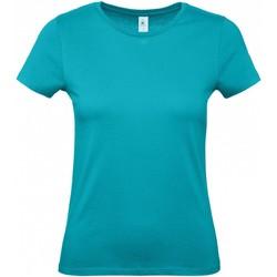vaatteet Naiset Lyhythihainen t-paita B And C B210F Real Turquoise