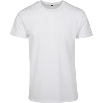 vaatteet Miehet Lyhythihainen t-paita Build Your Brand BY090 White