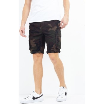 vaatteet Miehet Shortsit / Bermuda-shortsit Brave Soul  Khaki Camo