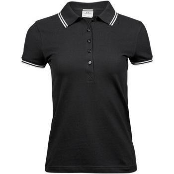 vaatteet Naiset Lyhythihainen poolopaita Tee Jays TJ1408 Black/White