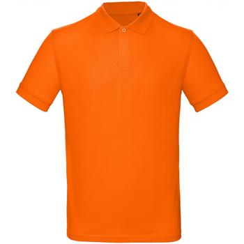 vaatteet Miehet Lyhythihainen poolopaita B And C PM430 Orange