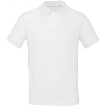 vaatteet Miehet Lyhythihainen poolopaita B And C PM430 White