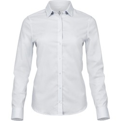 vaatteet Naiset Paitapusero / Kauluspaita Tee Jays TJ4025 White