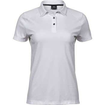 vaatteet Naiset Lyhythihainen poolopaita Tee Jays TJ7201 White