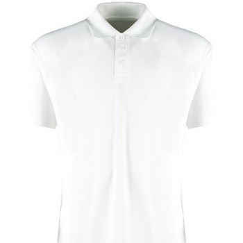 vaatteet Miehet Lyhythihainen poolopaita Kustom Kit KK455 White