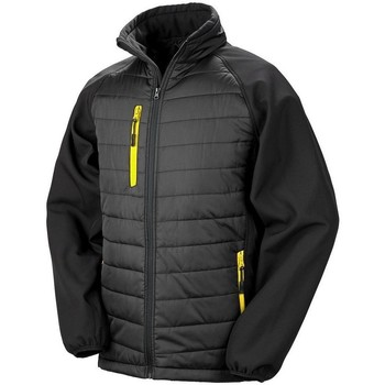 vaatteet Naiset Takit Result R237X Black/Yellow