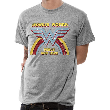 vaatteet Lyhythihainen t-paita Wonder Woman  Grey