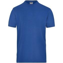 vaatteet Miehet Lyhythihainen t-paita James And Nicholson  Royal