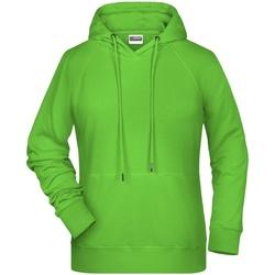 vaatteet Naiset Svetari James And Nicholson  Lime Green