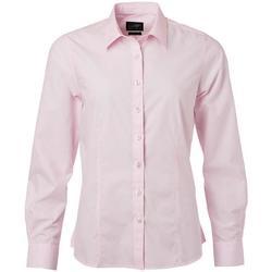 vaatteet Naiset Paitapusero / Kauluspaita James And Nicholson  Light Pink