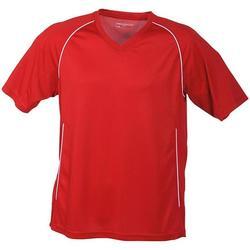 vaatteet Lyhythihainen t-paita James And Nicholson  Red/White