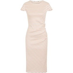 vaatteet Naiset Pitkä mekko Girls On Film  Pink/White