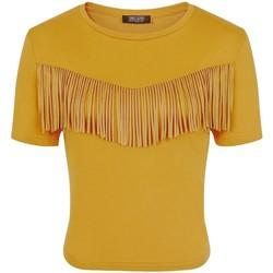 vaatteet Naiset Lyhythihainen t-paita Girls On Film  Mustard Yellow