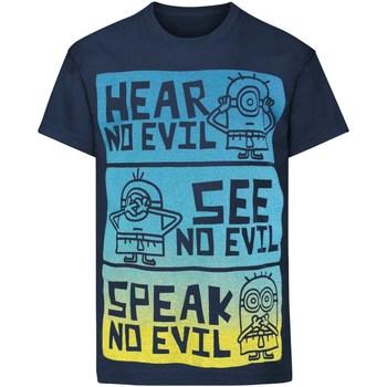 vaatteet Lapset Lyhythihainen t-paita Minions  Blue