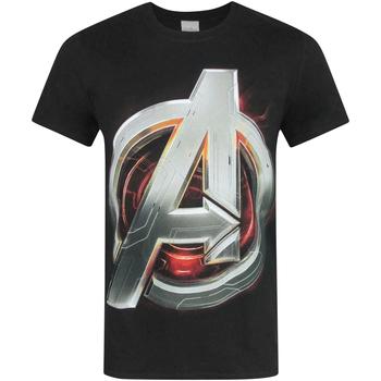 vaatteet Miehet Lyhythihainen t-paita Avengers  Black
