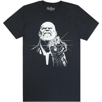 vaatteet Miehet Lyhythihainen t-paita Avengers  Black/White