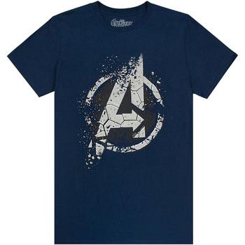 vaatteet Miehet Lyhythihainen t-paita Avengers  Navy/Grey