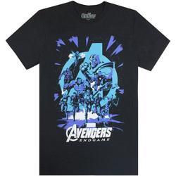 vaatteet Miehet Lyhythihainen t-paita Avengers  Black/Blue