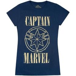 vaatteet Naiset Lyhythihainen t-paita Marvel  Navy