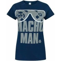 vaatteet Naiset Lyhythihainen t-paita Wwe  Blue