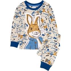 vaatteet Lapset pyjamat / yöpaidat Peter Rabbit  Blue/Cream