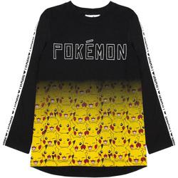 vaatteet Pojat T-paidat pitkillä hihoilla Pokemon  Black/Yellow
