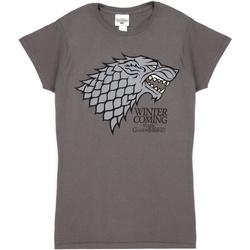 vaatteet Naiset Lyhythihainen t-paita Game Of Thrones  Grey