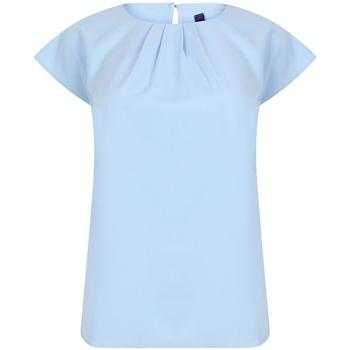 vaatteet Naiset Lyhythihainen t-paita Henbury HB597 Light Blue