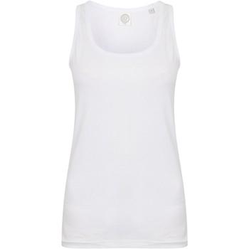 vaatteet Naiset Hihattomat paidat / Hihattomat t-paidat Skinni Fit SK123 White
